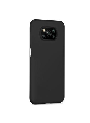 Microsonic Matte Silicone Xiaomi Poco X3 Pro Kılıf Mor Siyah